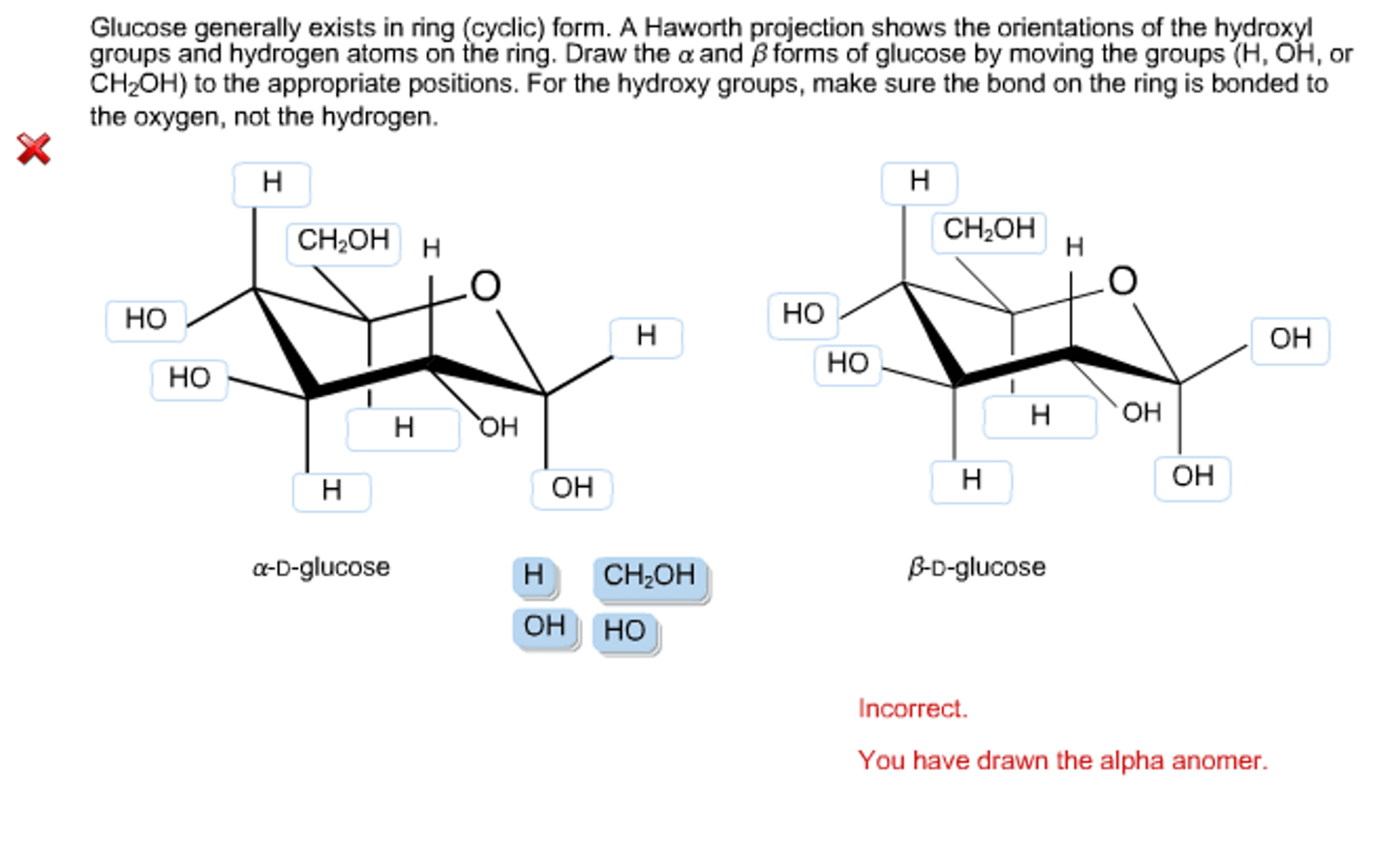 hight resolution of glucose generally exists in ring cyclic form a