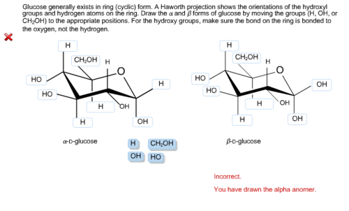 small resolution of glucose generally exists in ring cyclic form a