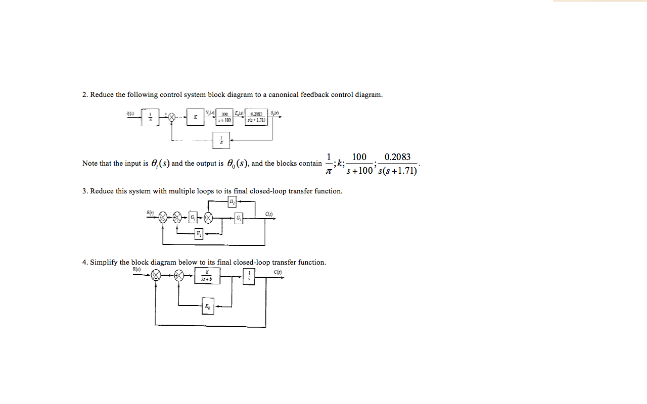 hight resolution of reduce the following control system block diagram to a canonical feedback control diagram note that the input is 0 s and the output is 0 1 0 s
