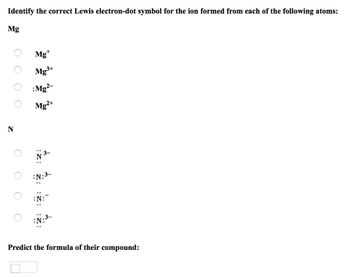 small resolution of identify the correct lewis electron dot symbol for the ion formed from each of the
