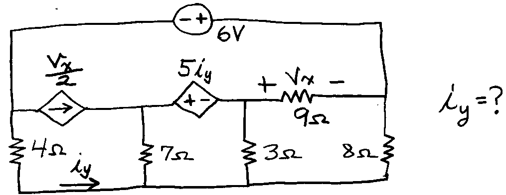 Solved: Circuit Is Below: Use Nodal Analysis ONLY To Find