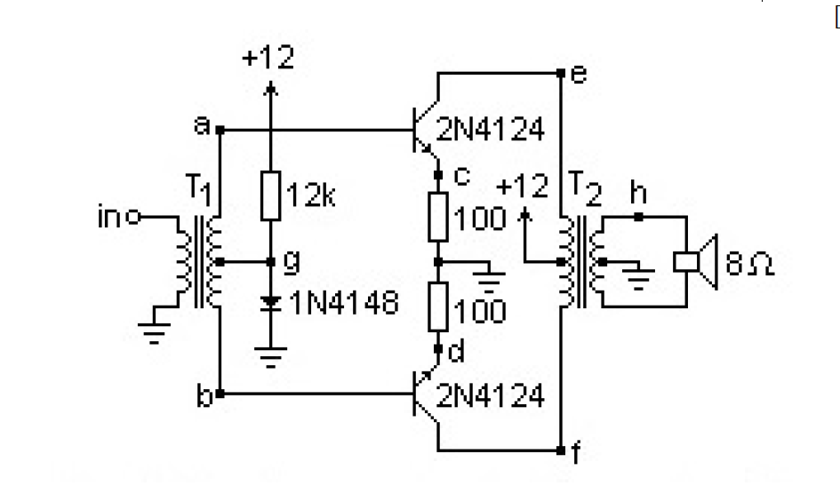 Solved: Refer To The Double Transformer Coupled Push-pull