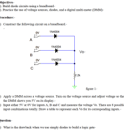 build diode circuits using a breadboard 2 practice the [ 906 x 920 Pixel ]