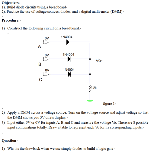 small resolution of build diode circuits using a breadboard 2 practice the