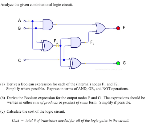 small resolution of analyze the given combinational logic circuit de