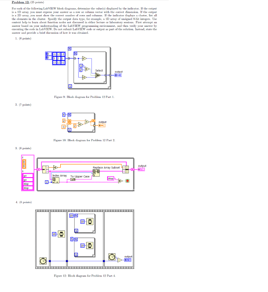 medium resolution of problem 12 25 points for each of the following labview block diagrams