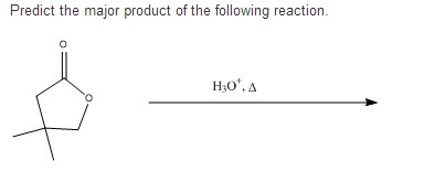 Solved: Predict The Major Product Of The Following Reactio