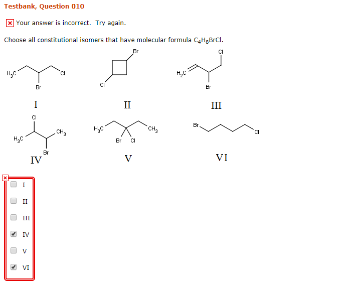Solved: Choose All Constitutional Isomers That Have Molecu