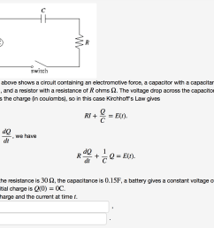 solved the figure above shows a circuit containing an ele above a circuit diagram including a battery emf capacitor c a [ 1348 x 1134 Pixel ]