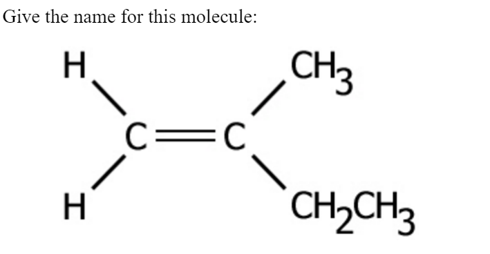 Solved: Give The Name For This Molecule: CH 3 CH2CH 21 3