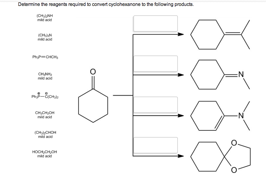 Solved: Determine The Reagents Required Ro Convert Cyclohe