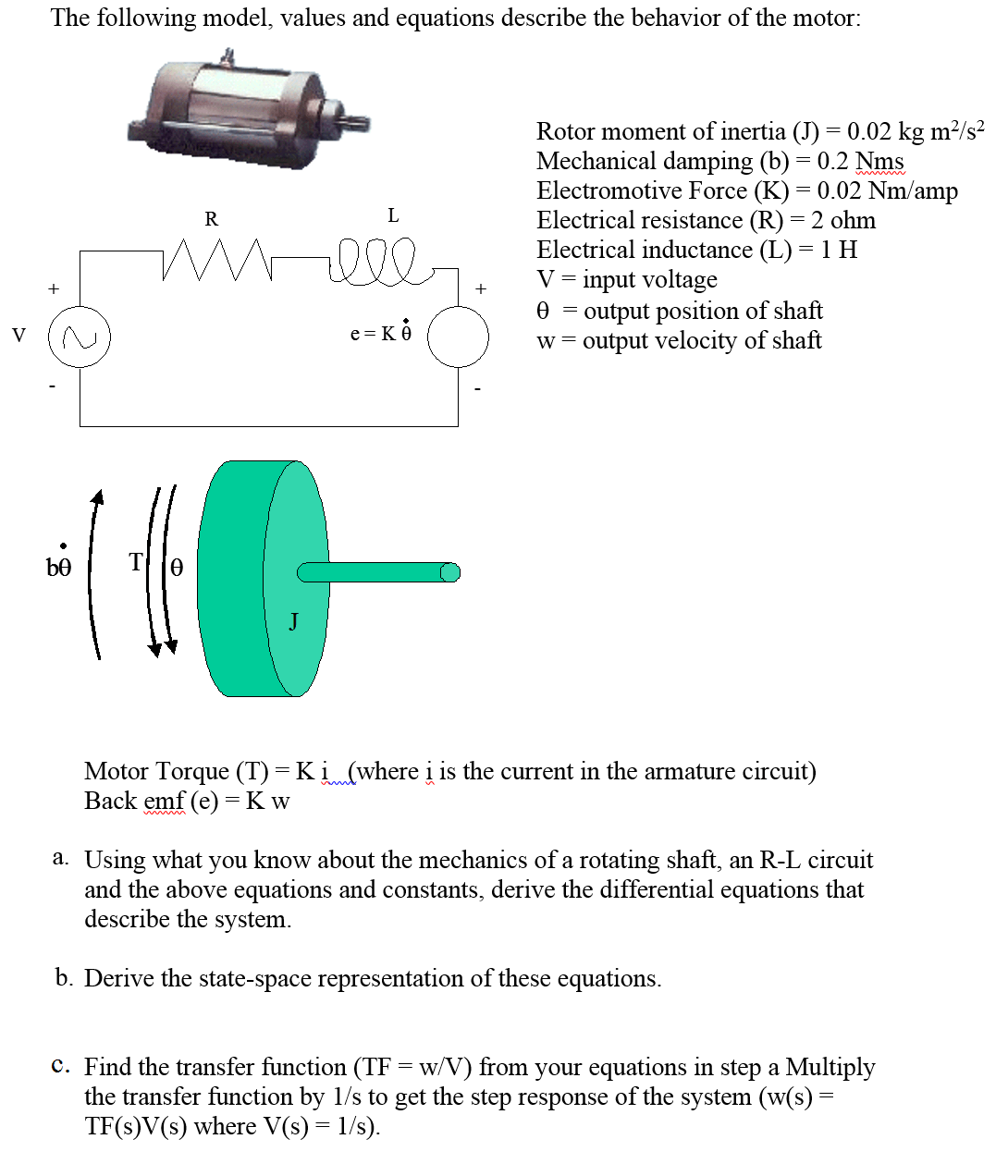 hight resolution of the following model values and equations describe