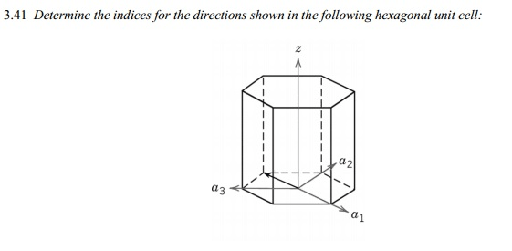Solved: Determine The Indices For The Directions Shown In