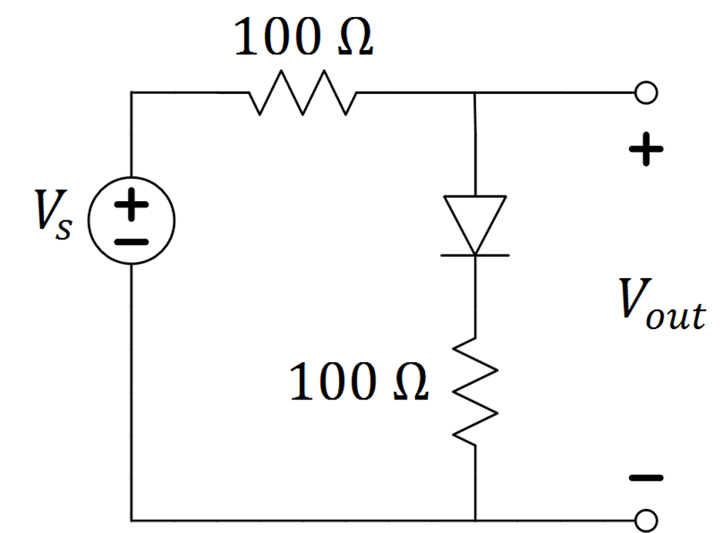 Solved: Assume An Ideal-offset Model With VON=0.2V For The