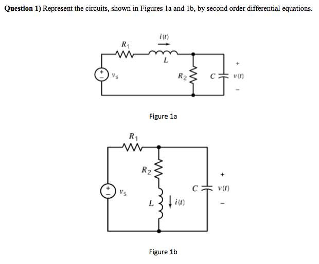 Solved: Represent The Circuits, Shown In Figures 1a And 1b