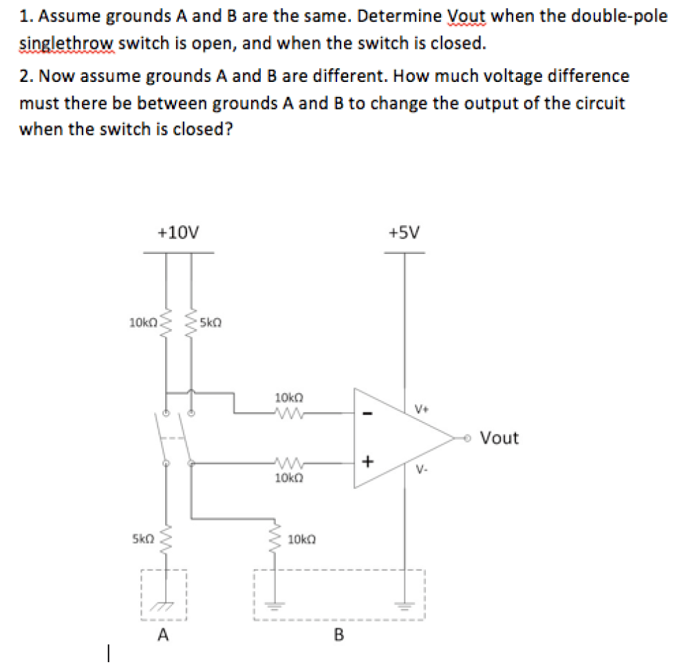 medium resolution of determine vout when the double