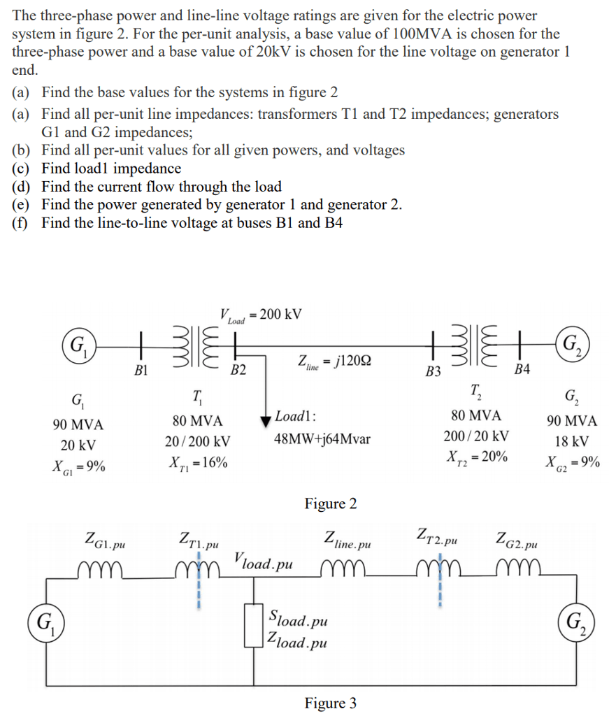 hight resolution of question the three phase power and line line voltage ratings are given for the electric power system in fi