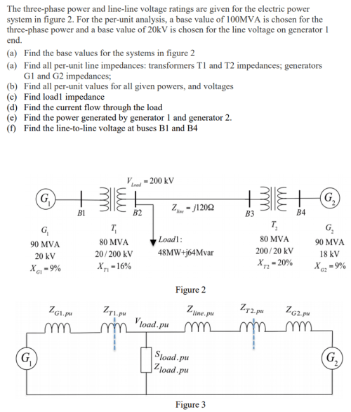 small resolution of question the three phase power and line line voltage ratings are given for the electric power system in fi