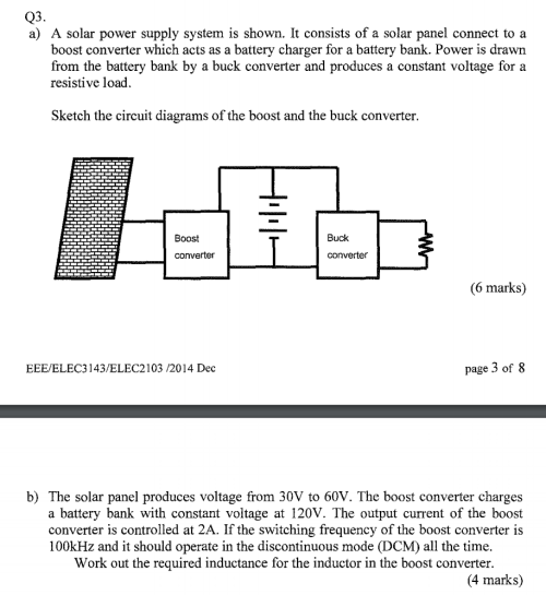 small resolution of a solar power supply system is shown it consists