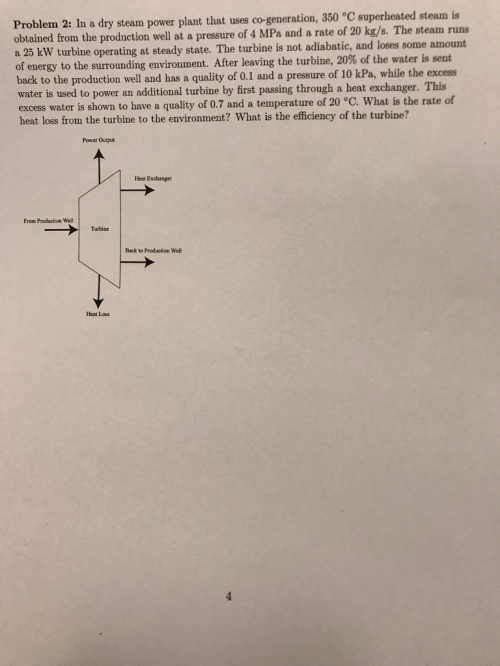 small resolution of problem 2 in a dry steam power plant that uses co generation 350