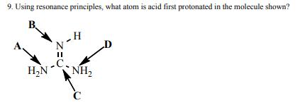 Solved: 9. Using Resonance Principles, What Atom Is Acid F