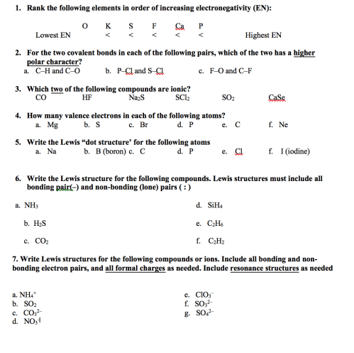 small resolution of rank the following elements in order of increasing