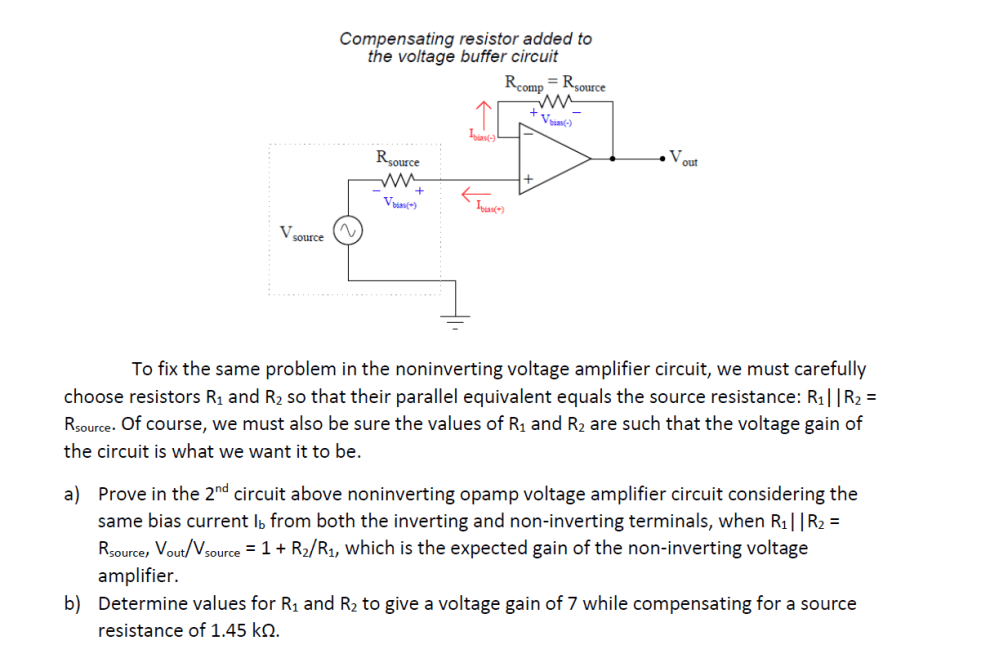 medium resolution of the same problem of input bias current affecting the precision of opamp voltage buffer circuit also affects noninverting opamp voltage amplifier circuit