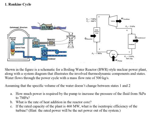 small resolution of 1 rankine cycle 7 mpa turbine t3 300 c turbine p 5 kpa