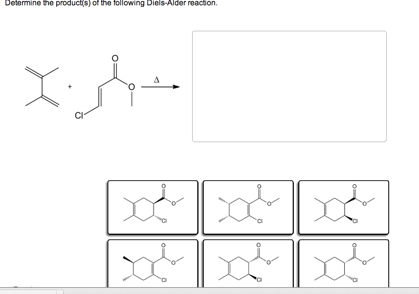 Solved: Determine The Product(s) Of The Following Diels-Al