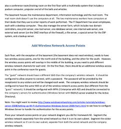 wireless network design for a small company show transcribed image text [ 982 x 1024 Pixel ]