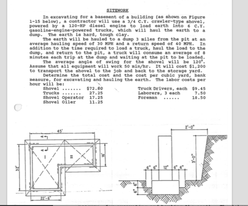 small resolution of in excavating for a basement of a building as shown on figure 1 15