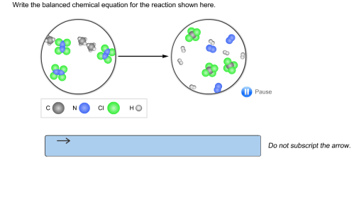 small resolution of question write the balanced chemical equation for the reaction shown here