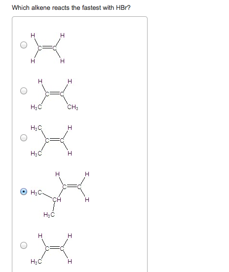 Solved: Which Alkene Reacts The Fastest With HBr? Draw The