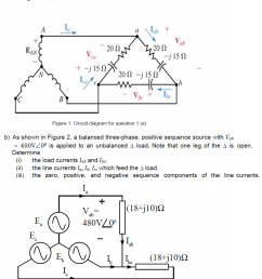 determine a for the circuit of figure 1 if the line current la 12 0 vz300 [ 868 x 1024 Pixel ]