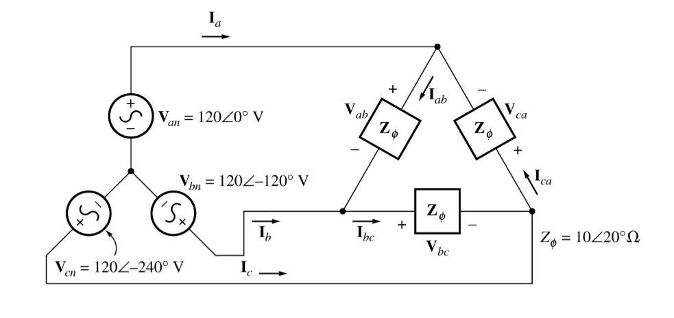 Solved: Three Impedances Of 4 + J3 Ohms Are Delta-connecte