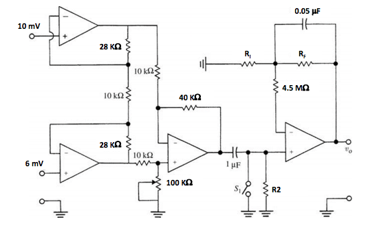 In The ECG Preamplifier Circuit With A CMRR Of 60
