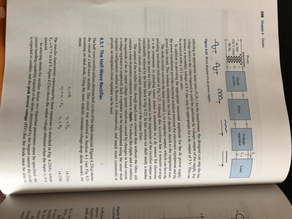 hight resolution of 208 chapter 4 diodes power transformer voltage regulator diode filter load ac line 120 v