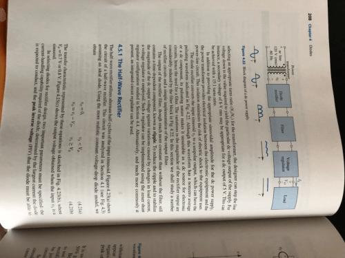 small resolution of 208 chapter 4 diodes power transformer voltage regulator diode filter load ac line 120 v