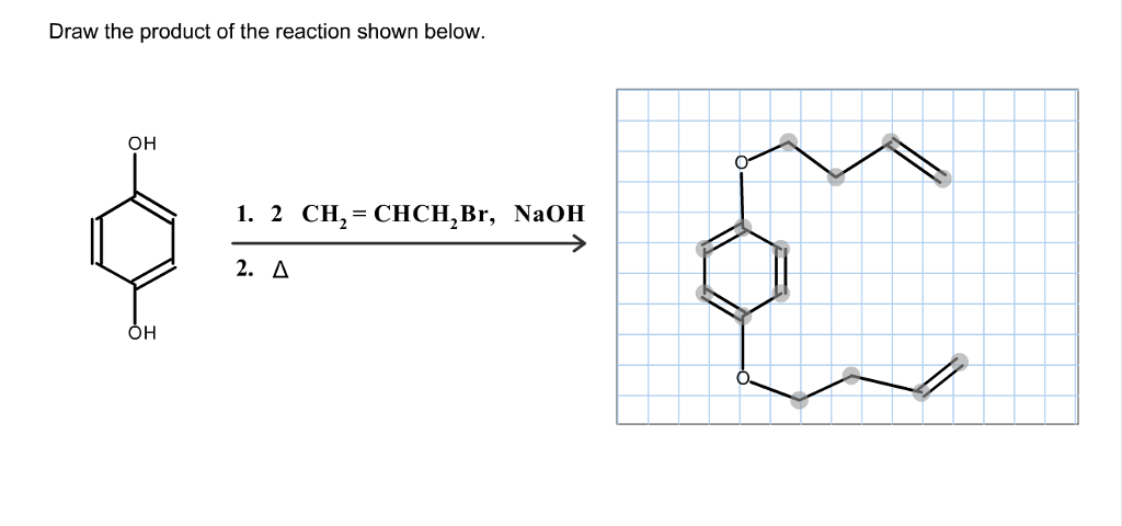 Solved: Draw The Product Of The Reaction Shown Below OH I