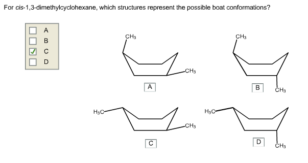 Solved: For Cis-1,3-dimethylcyclohexane, Which Structures