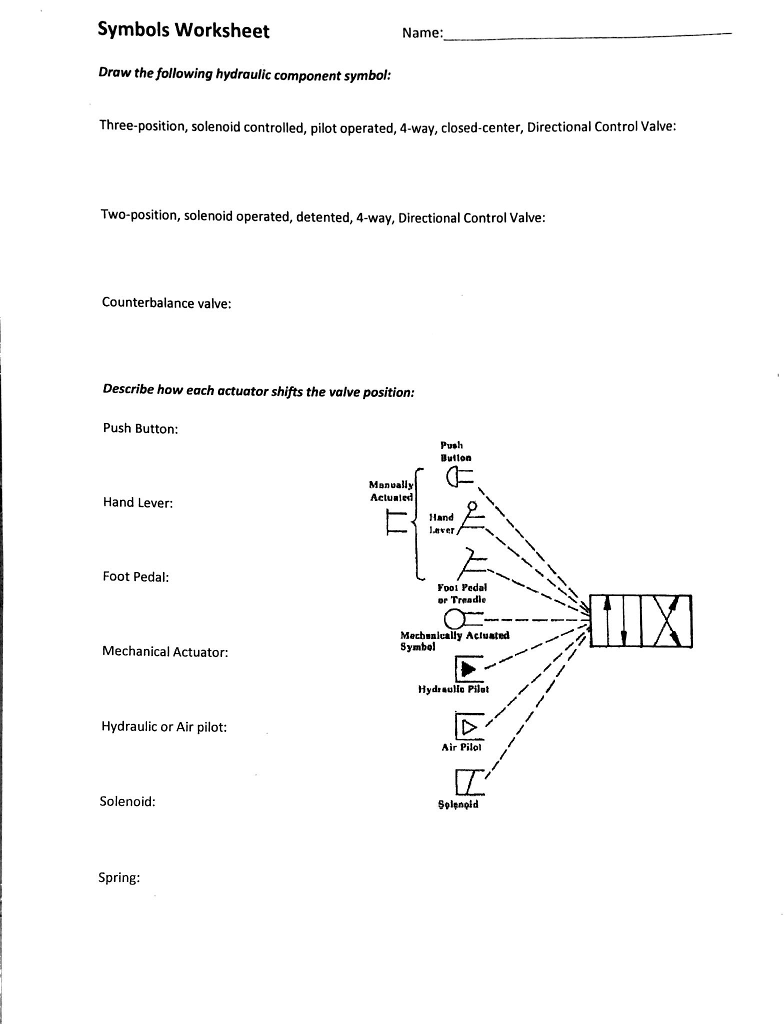 Solved: Identify The Following Hydraulic Component Symbols