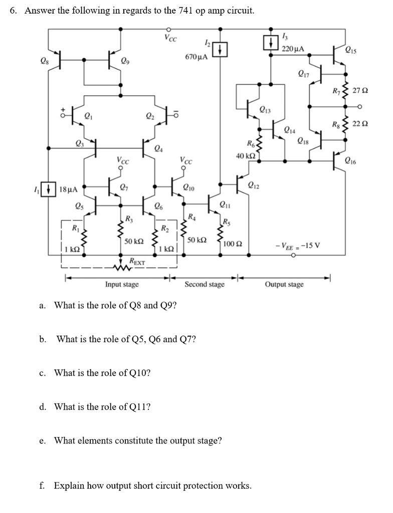 hight resolution of answer the following in regards to the 741 op amp circuit 220