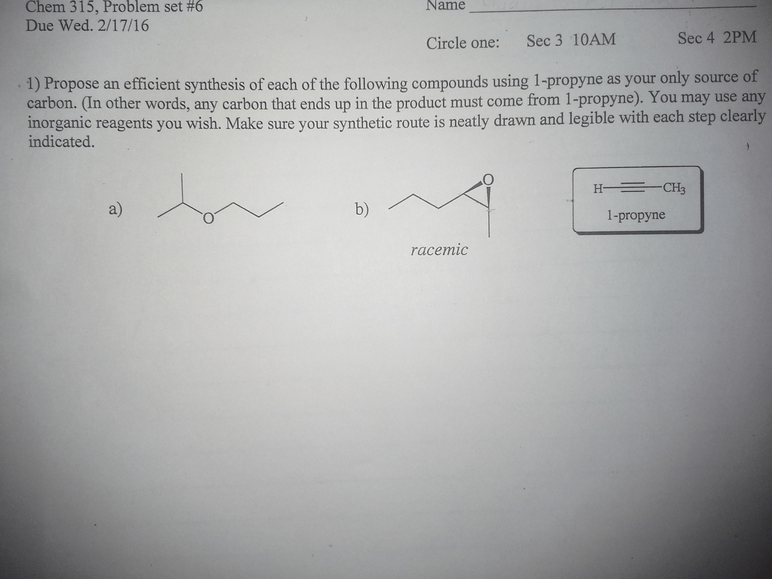 Solved So The First Question Asks Me Synthesize Compoun