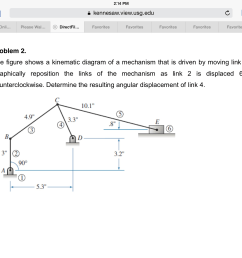 question the figure shows a kinematic diagram of a mechanism that is driven by moving link 2 graphically  [ 2048 x 1536 Pixel ]