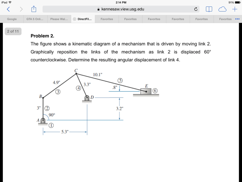 medium resolution of question the figure shows a kinematic diagram of a mechanism that is driven by moving link 2 graphically