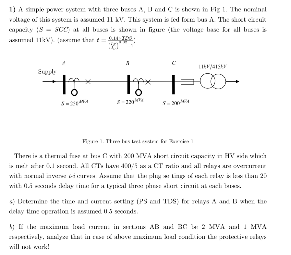 medium resolution of 1 a simple power system with three buses a b and c is shown