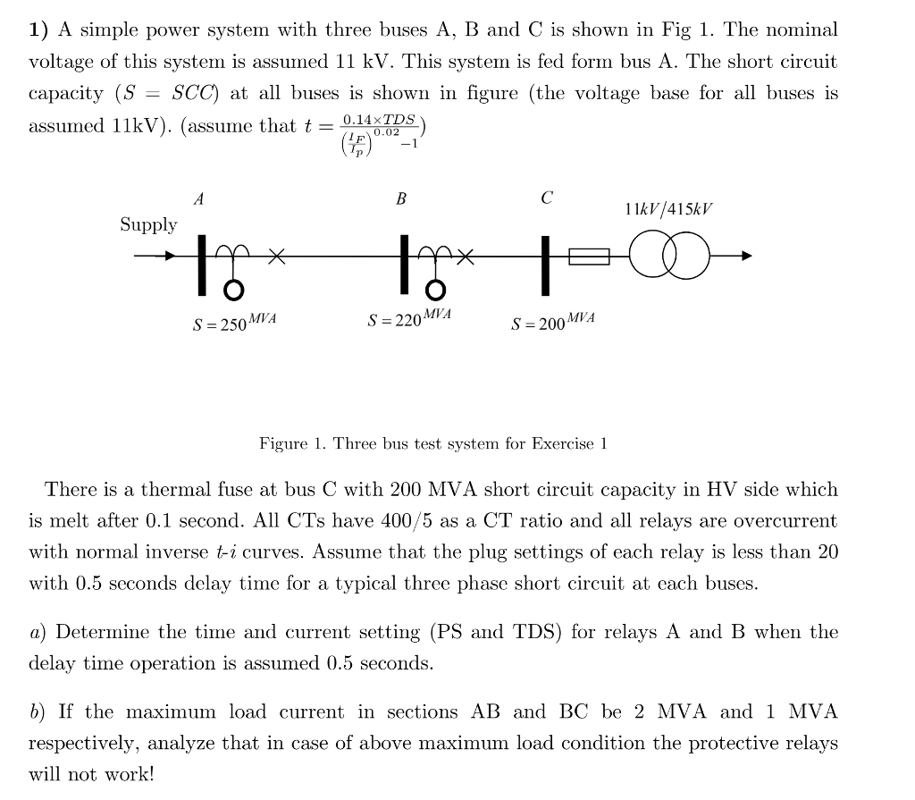 hight resolution of 1 a simple power system with three buses a b and c is shown