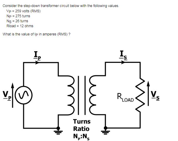 Solved: Consider The Step-down Transformer Circuit Below W