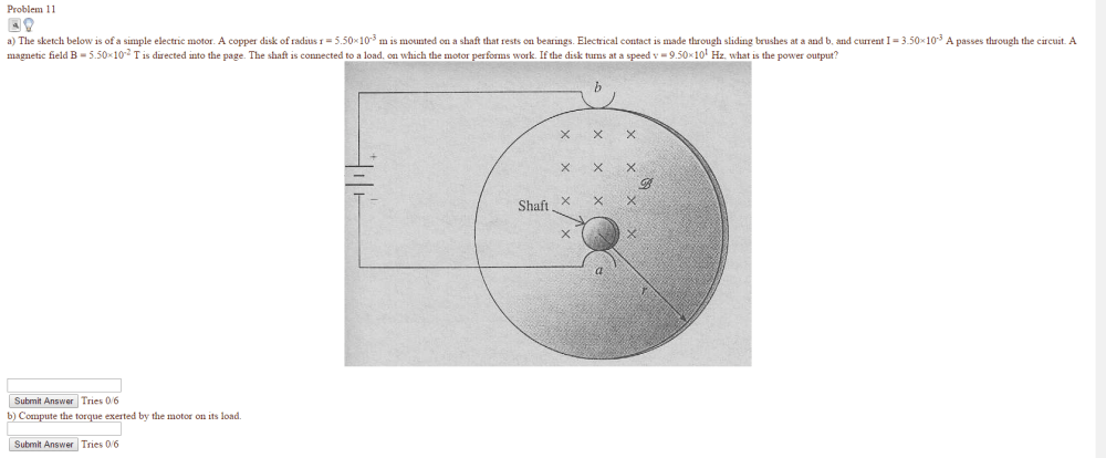 medium resolution of image for problem 11 a the sketch below is of a simple electric motor