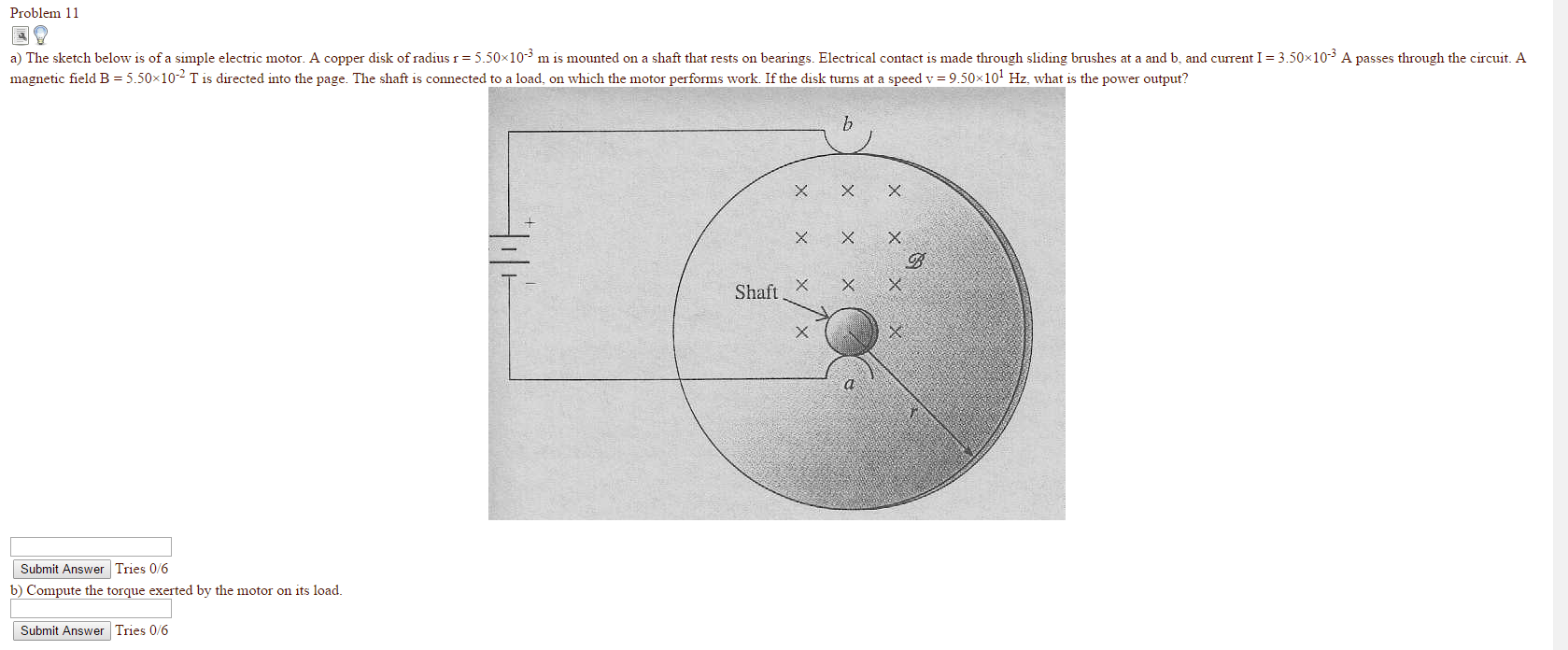hight resolution of image for problem 11 a the sketch below is of a simple electric motor